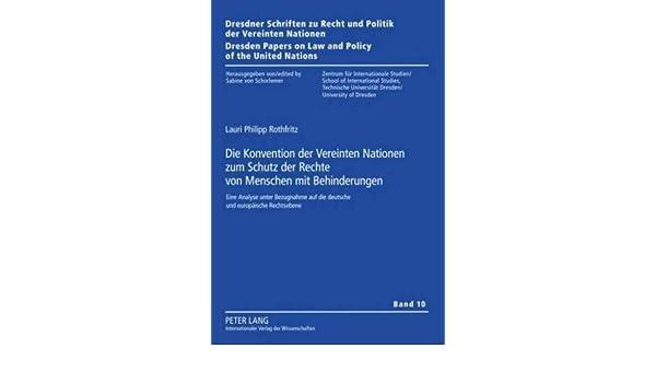 Die UN-Konvention zum Schutze der Rechte von Menschen mit Behinderung (German Edition)