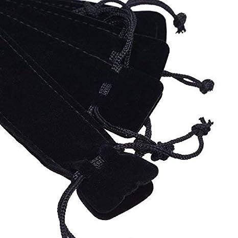 fea1034f5c06 BCP 40pcs Black Color Velvet Drawstring Pen Pouch, Pen Bag/ Holder