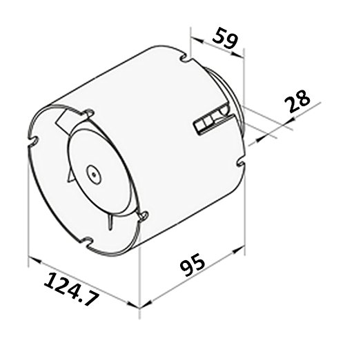Rohreinschubventilator 125mm Qualit/ätsprodukt aus Europa