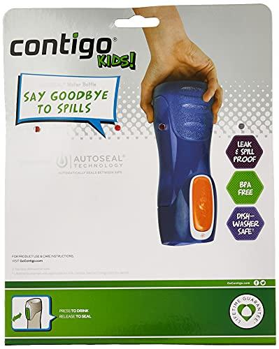 Contigo 70660ZCN Water Bottle, 2-Pack, Navy & Nectarine