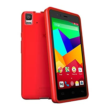 bq Gummie Cover - Carcasa para bq Aquaris E5 4G, color rojo