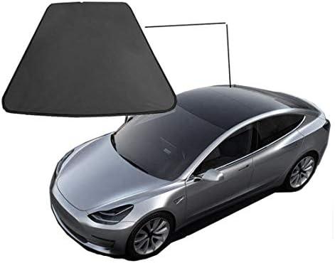 Monland メッシュ 車の窓の日よけ、車のリアサンルーフUV光線ウィンドウシェード Tesla Model 3に適用
