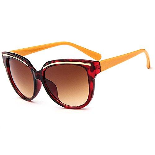 con Mirror de Glasses Vintage Gafas marca Verde Eye estilo Classic Mujeres sol la de GGSSYY Rose Gold Diseñador Sun Multi moda de Retro Señora X5vxqR