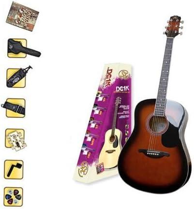 Guitarra acústica paquete con guitarra de 37 pulgadas, Bolsa de ...