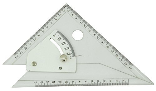 Technosigma Drawing Professional Adjustable Set Square Beveled Edges - 8 Inches by Technosigma