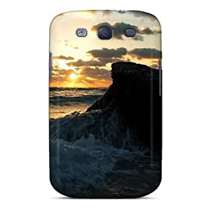 Quality DaMMeke Case Cover With Sunrise Behind Rock Nice Appearance Compatible With Galaxy S3