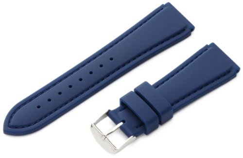 Hadley-Roma Men's MS3346RF 220 22-mm Genuine Silicone Diver Sport Watch Strap