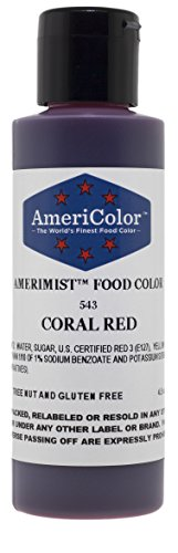 AmeriColor AmeriMist Coral Red Airbrush Food Color, 4.5 oz