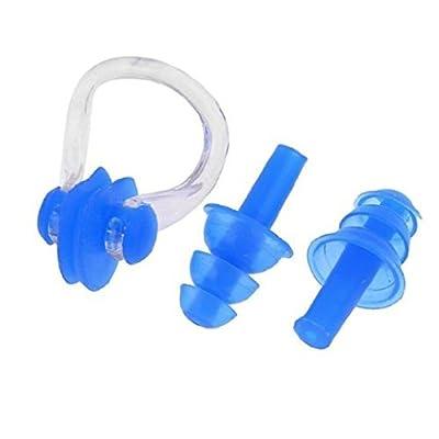 Dasuke de natation Pince-nez Bouchons d'oreilles en silicone Excellent écran pour adultes et enfants, Rose