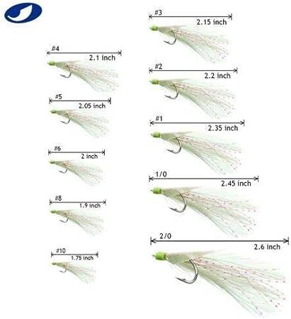 6 PCS ANCHOVY FISH JIG//SPOON BAIT 3//4,1,2 OZ 2 EA CHARTREUSE//WHITE//HOOK//SWIVEL