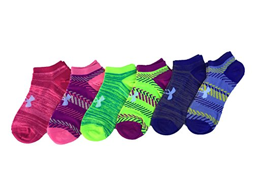 Under Armour Women`s Big Logo No-Show Socks (6 Pack) (Heather (1259396-123) / Pattern/Assorted, Medium) by Under Armour