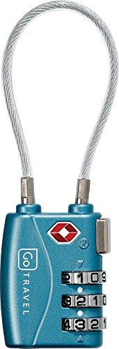 5 cm Go Travel Combi Cable Lock Cadena TSA pour valise set de 2pcs