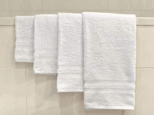 Hotel Bath Towels 24x50 6 New White 99% Cotton #GG11