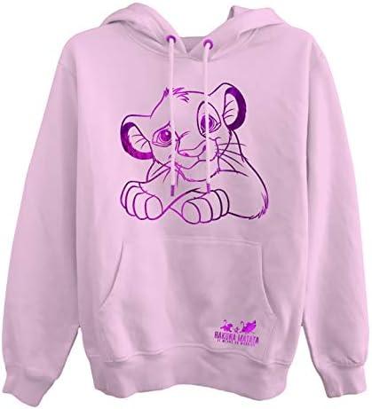 Disney Ladies Lion King Fashion Sweatshirt - Ladies Classic Hakuna Matata Clothing Lion King Foil Hoody