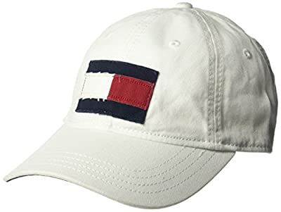 Tommy Hilfiger Men's Dad Hat Tommy Flag Cap, Classic White, O/S from Tommy Hilfiger
