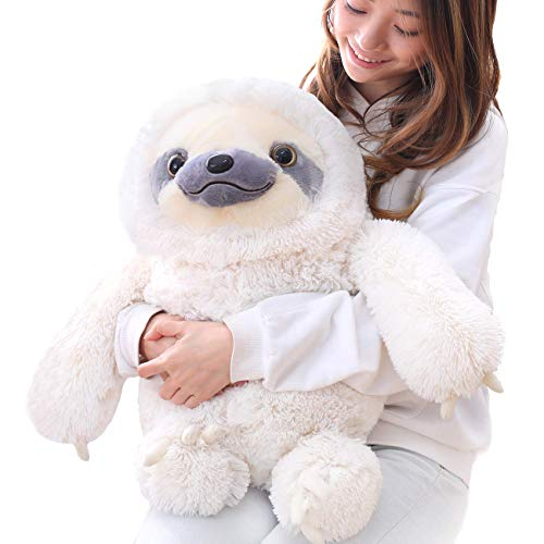 Winsterch Kids Sloth Stuffed Animal Toy Plush Sloth Baby Doll Kids Birthday Gifts,Ivory 19.7 inches (Sloth Large Stuffed Animal)