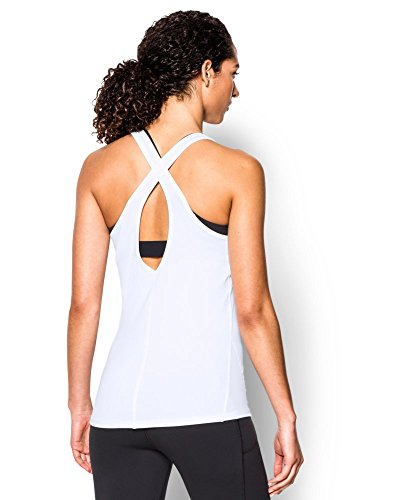 Under Armour Women's CoolSwitch Tank, White/Metallic Silver, X-Small