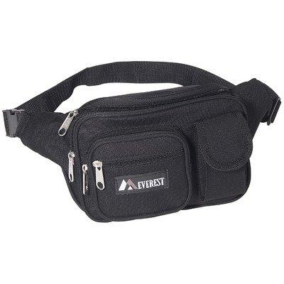 14″ Multiple Pocket Fanny Pack Color: Black, Outdoor Stuffs