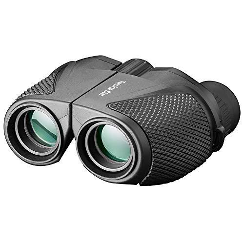 Twinkle Star 10 x 25 Compact High Powered Binoculars for Adults (BAK4,Green Lens) Lightweight Folding Binoculars for Clear Bird Watching Kids Sport Game Concert Theater Opera Surveillance