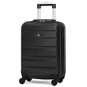 Aerolite Lightweight 55cm Hard Shell Cabin Suitcase 4 Wheel Carry On Hand Luggage Bag – Approved for easyJet, British…