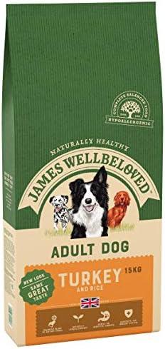 James Wellbeloved Complete Dry Adult Dog Food Turkey and Rice, 15 kg – Dogs Corner