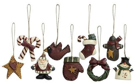 Amazoncom Old World Mini Christmas Ornaments 9 Piece Set Vintage