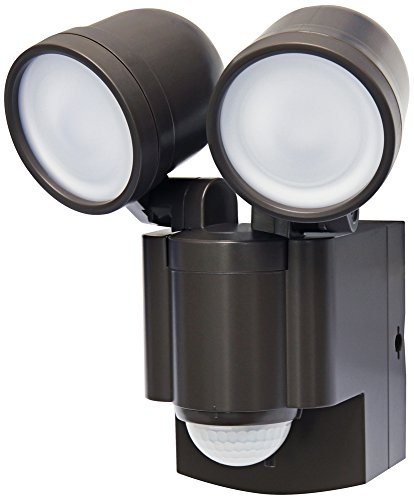 Battery Operated Motion Sensor Twin LED Light (Bronze) For Sale