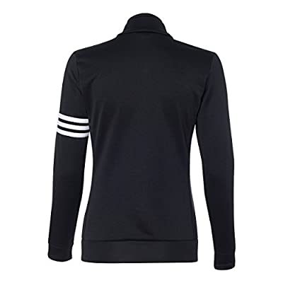 Amazon.com : adidas Ladies' ClimaLite 3-Stripes French Terry Full-Zip Jacket : Clothing