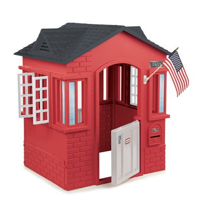 Children Playhouse Plastic Kids Outdoor Garden Log Cabin Fort Cottage Backyard ()