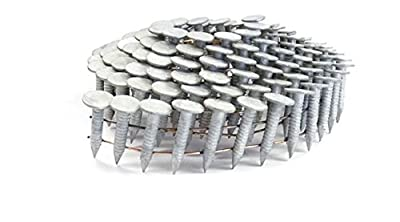 "3/4"" RING A153-D HOT DIP COIL ROOFING NAILS 3.6M Box by Jev Cap"