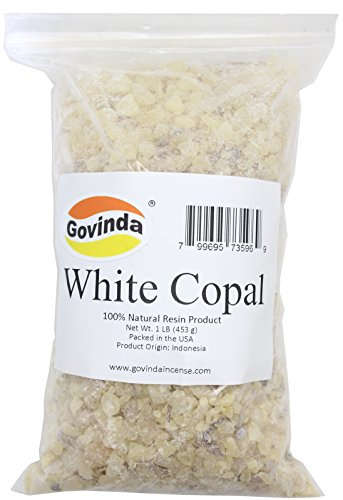 Govinda White Copal Incense Resin 1 lb