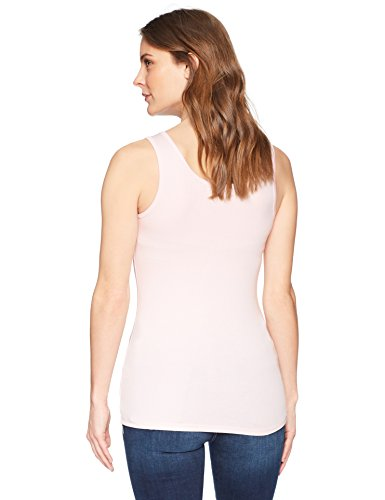 Amazon Essentials Women's 2-Pack Tank, Light Pink/Light Grey Heather, X-Large by Amazon Essentials (Image #3)