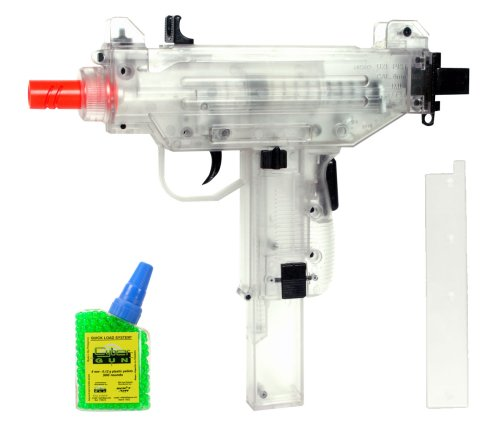 Soft Air Uzi Spring Powered Airsoft Pistol with 500 BBs (Clear)
