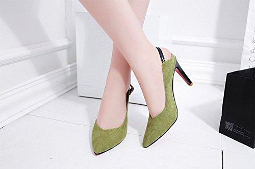 Con Baja Bajo Boca Mujer Tacón Puntiagudos Bien Alto De Meili Zapatos vq0wII4