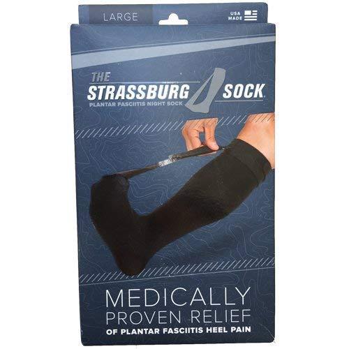 Strassburg Sock Black Large(Measurer at Fullest Part of Calf, 16