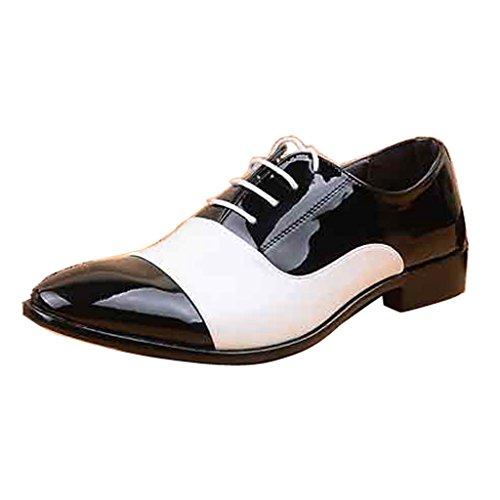 Cari Uomini Del Tempo Vestito Oxford Uniforme Scarpe Bianche