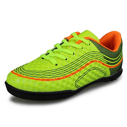 7610932109c2 Hawkwell Kids Athletic Outdoor/Indoor Comfortable Soccer Shoes(Toddler/Little  Kid/Big Kid),Green PU,1 M US