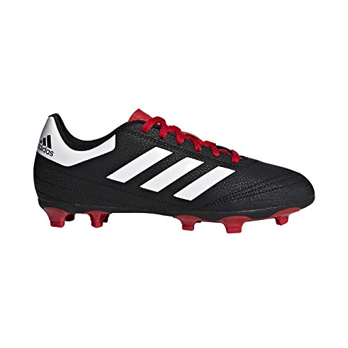 adidas Unisex-Kid's Goletto VI Firm Ground Football Shoe, Black/White/Scarlet, 12K M US Little Kid