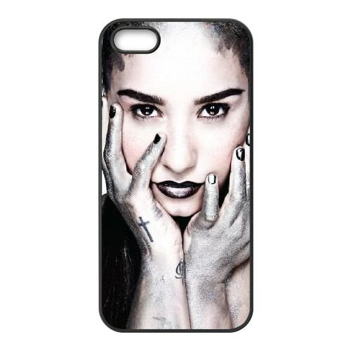 Demi Lovato 014 coque iPhone 5 5S cellulaire cas coque de téléphone cas téléphone cellulaire noir couvercle EOKXLLNCD23156