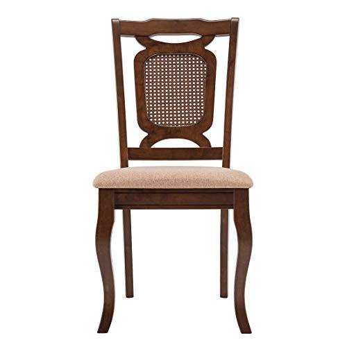 Durian Trafford Brown Solid Wood Dining Chair, Dark Oak, Standard  Trafford/DC