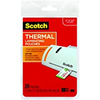 Scotch Thermal Laminating Pouches, 2.36 Inches x 3.74 Inches, 20 Pouches, 6 Pack (TP5851-20)