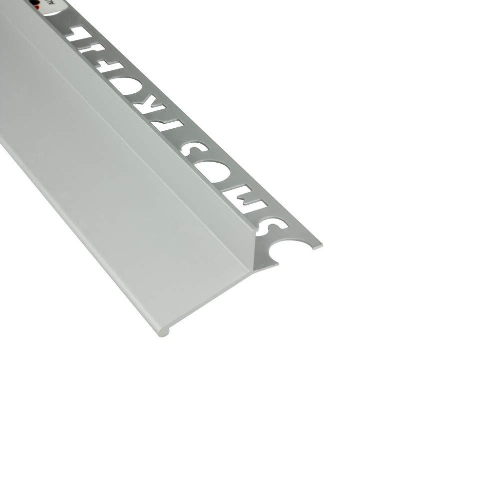 Alu L-Profil Balkon Terrasse abtropf Fliesenschiene Profil Schiene silber matt