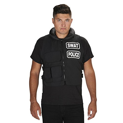 [SWAT Team Vest Adult Costume One Size] (Swat Vest Costume)