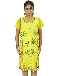 Women Casual Dress Rayon Beach Summer Sundress Clothing