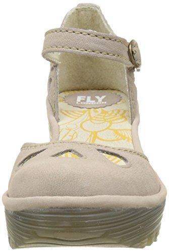 FLYA4|#Fly London Yuna, Zapatos De Tacón Para Mujer Gris (Concrete 133)