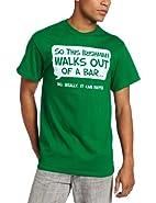 T-Line Men's Humor Irishman Walks Out Of A Bar T-Shirt
