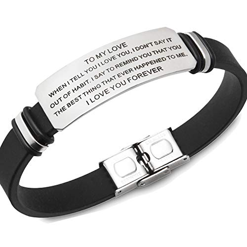 creatique to My Love Bracelet Bracelets   Husband Bracelet from Wife, Gift for My Husband, Boy Friend Gift, for My Husband, for My Husband, Engraved Gifts (ToMyLove)
