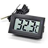 Portable Mini LCD Digital Thermometer Sensor Wired for Room Temperature/Fridges/Indoor/Outdoor Portable Pocket LCD Electronics Compact