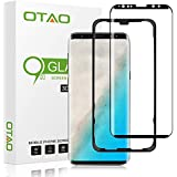 Galaxy S9 Plus Screen Protector Tempered Glass, [Update Version] OTAO 3D Curved Dot Matrix [Full Screen Coverage] Glass Screen Protector (6.2'') with Installation Tray [Case Friendly] for Samsung S9+