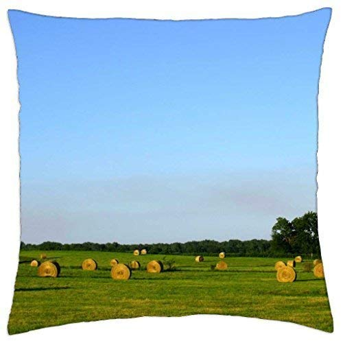 DREAM-S bails of hay - Throw Pillow Cover Case 18 X 18 Inch -